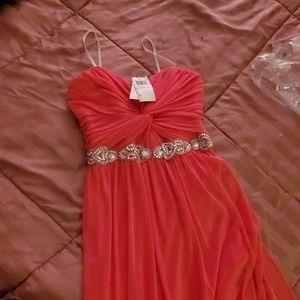 Pink Sweetheart Prom Dress